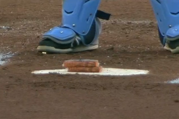 yadier molina leaves cheese crackers on home plate for brother jose molina