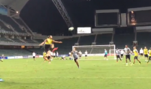 Zlatan Ibrahimovic Scores Insane Goal While Training with PSG for Hong Kong Friendly (Videos)