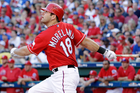 10 mitch moreland rangers - position players who pitched in 2014