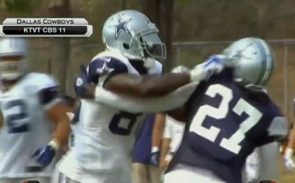 Dez Bryant Cowboys training camp fight