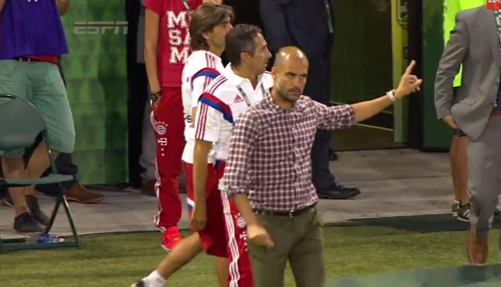 Pep Guardiola refuse shake hand