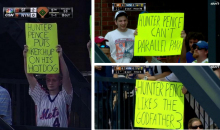 Mets Fans Drop Some Sick Burns on Hunter Pence with Hilarious Signs