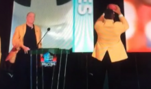 Andre Reed Celebrates Hall of Fame Induction by Catching Pass from Jim Kelly (Video)
