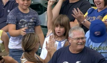 Little Girls Manages to Steal Foul Ball from Throng of Grabby Fans (GIF + Video)