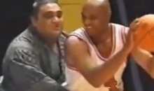 Vintage Video of Charles Barkley and Michael Jordan Playing Ball Against Sumo Wrestlers? Yup!