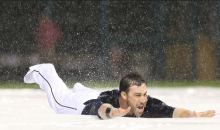 Cleveland Indians Kill Time During Rain Delay Using Tarp as a Slip'N Slide (Video)