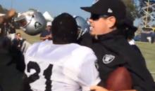 New Brawl Footage Shows a Raider Fan Swinging a Helmet at Cowboys CB B.W. Webb  (Video)