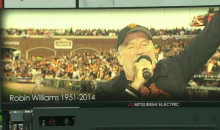 San Fransisco Giants Hold Moment of Silence and Show 'Mrs. Doubtfire' Clip in Memory of Robin Williams (Video)