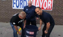 Toronto Mayor Rob Ford Does the ALS Ice Bucket Challenge, Gets Doused by Tie Domi (Video)
