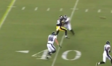 Le'Veon Bell Goes Over the Middle to Catch a Pass in Steelers Preseason Game, Gets Flattened (Video)
