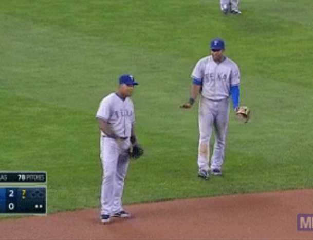 Elvis Andrus And Adrian Beltre Draw Actual Line In The Sand To