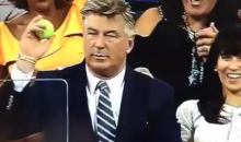 Alec Baldwin Nonchalantly Catches Stray Tennis Ball at the U.S. Open (Video)