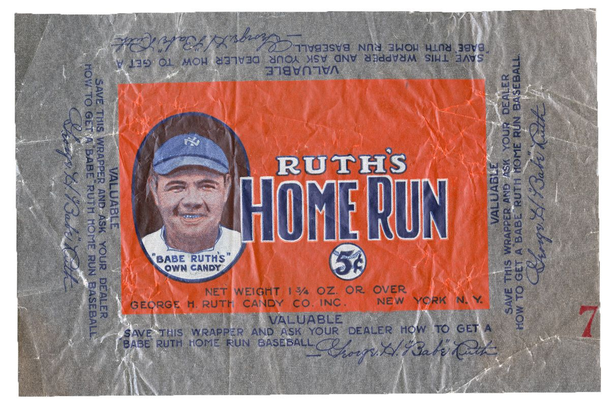 babe ruth's home run candy bar (babe ruth) - athletes with their own foods