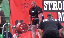 Enormous Man Sets New World Deadlift Record, Then Owns Annoying Reporter Trying to Get an Interview 20 Seconds Later (Video)