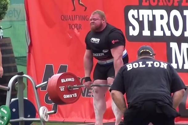 benedikt magnusson world record dead lift 461kg 1016lb