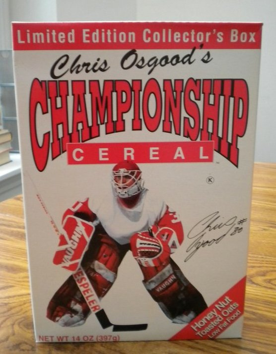 chris osgood championship cereal (chris osgood) - athletes with their own foods
