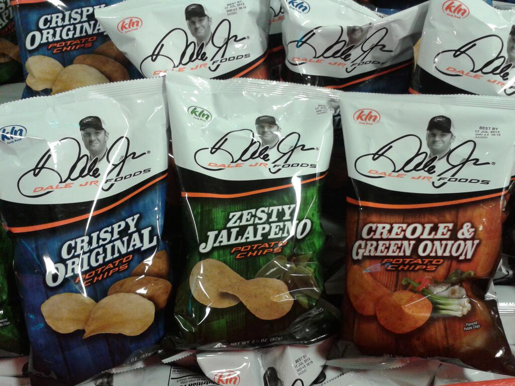 dale jr foods potato chips (dale earnhardt jr) - athletes with their own foods