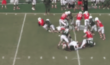 Miami Hurricanes Linebacker Denzel Perryman Destroys Teammate Gus Edwards in Scrimmage…AGAIN (GIF)