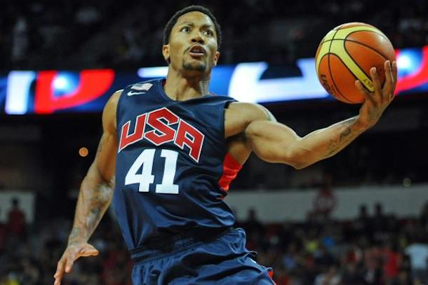 derrick rose team usa vs brazil chicago united center