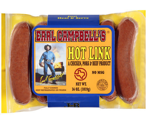 earl campbell hot links (earl campbell meat products) - athletes with their own foods