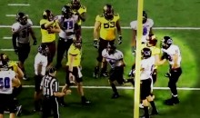 Eastern Illinois Football Player Ejected For Punching a Minnesota Player in the Junk (GIF)