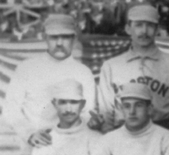 first-ever-photo-of-the-finger hoss redbourn boston beaneater - athletes flipping the bird