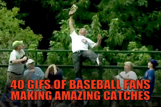 gifs of baseball fans making amazing catches