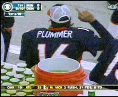 jake plummer gives fans the bird - athletes flipping the bird