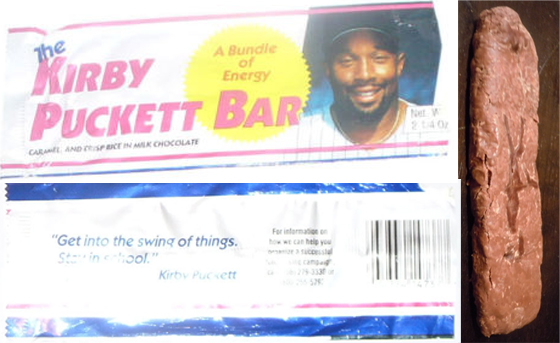 kirby puckett bar (kirby puckett) - athletes with their own foods