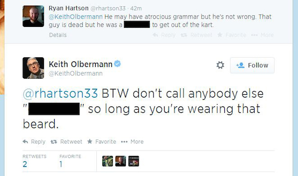 olbermann twitter debate nascar tony stewart cheez-it 355 5