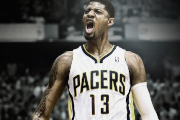 paul george changes number to 13