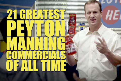 peyton mannning commercials