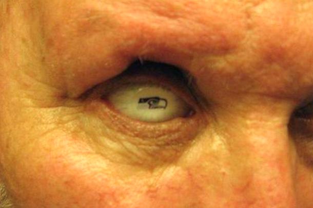 seattle seahawks prosthetic eye