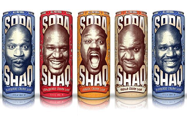 shaq soda (shaquille o'neal) - athletes with their own foods