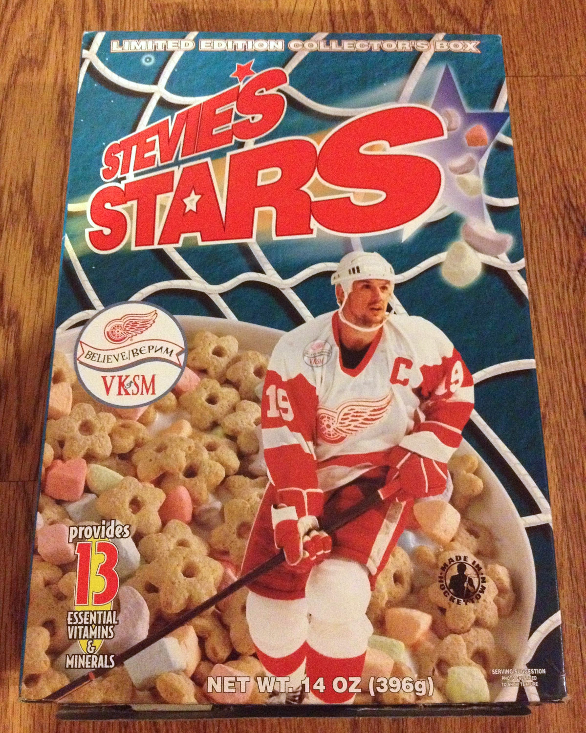 stevie's stars (steve yzerman cereal) - athletes with their own foods