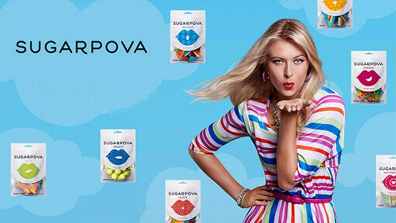sugarpova (maria sharapova) - athletes with their own foods