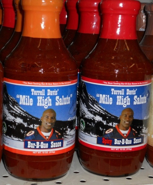 terrell davis mile high salute bar-b-que sauce (terrell davis) - athletes with their own foods