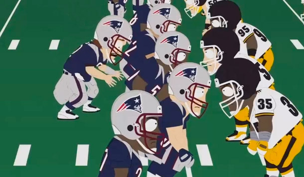 1 tom brady crapping pants south park   - sports figures parodied on south park