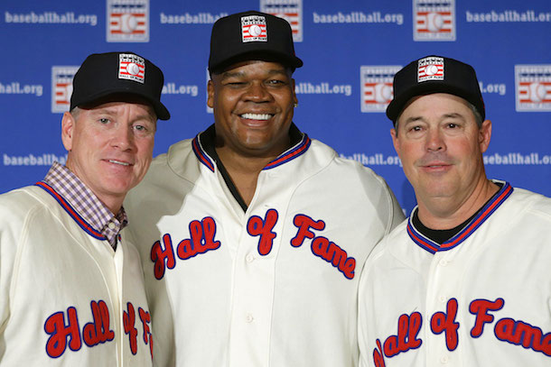1 tom glavine frank thomas greg maddux hall of fame induction 2014 - since the royals last made the playoffs