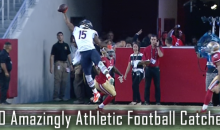20 Amazingly Athletic Football Catches