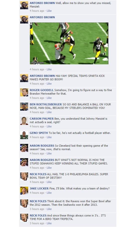 NFL Quarterback Conversation Week 1