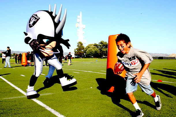 3 Raider Rusher Oakland Raiders mascot - creepy NFL mascots