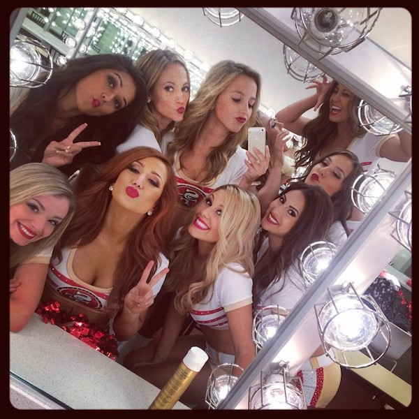 54716 san francisco 49ers gold rush cheerleaders (most popular nfl cheerleading squads on instagram)