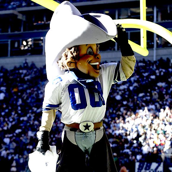 7 Rowdy Dallas Cowboys mascot - creepy NFL mascots