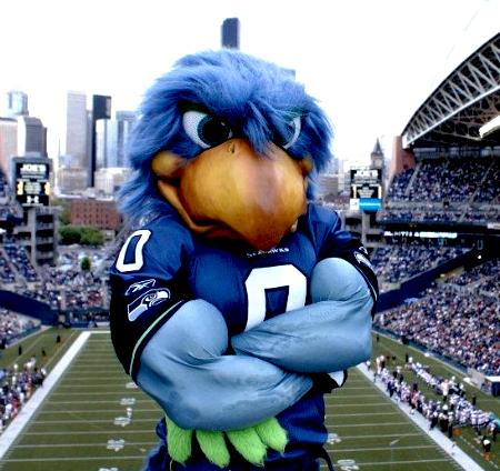 8 Blitz Seattle Seahawks Mascot - creepy NFL mascots