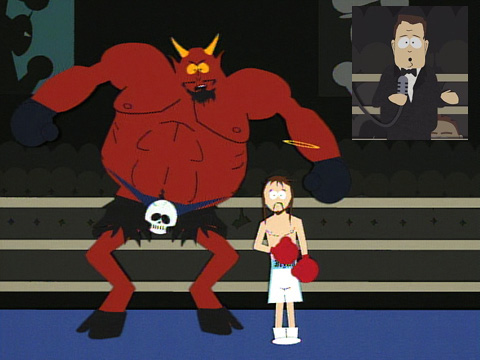 8 jesus satan boxing michael buffer  - sports figures parodied on south park