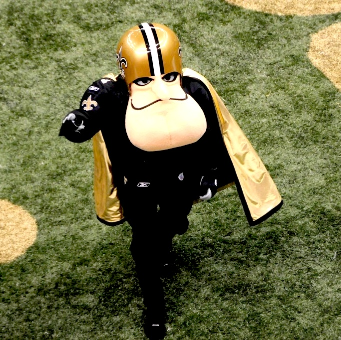 9 Sir Saint New Orleans Saints mascot - creepy NFL mascots