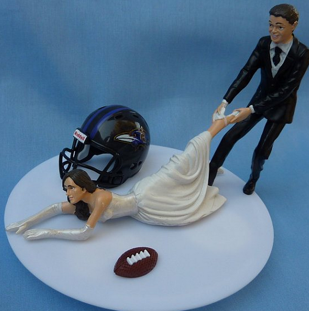anyone want this baltimore ravens wedding cake statue after ray rice