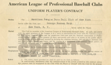 Babe Ruth Red Sox Contract Sells for More Than $1 Million (Pic)