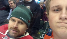 Wild Goalie Ilya Bryzgalov Takes Selfies with Fans During Game (Pics)